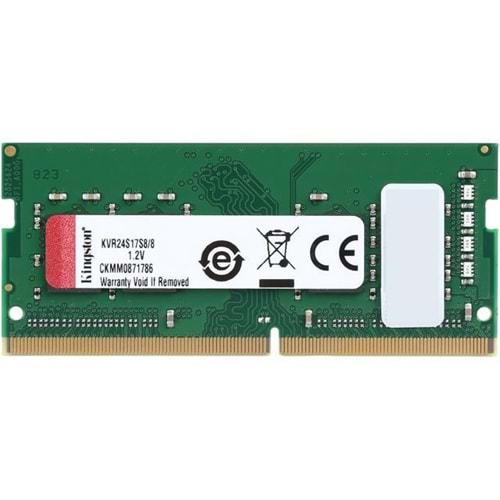 RAM KINGSTON 8GB 2400MHz DDR4 KVR24S17S8/8 NTBK
